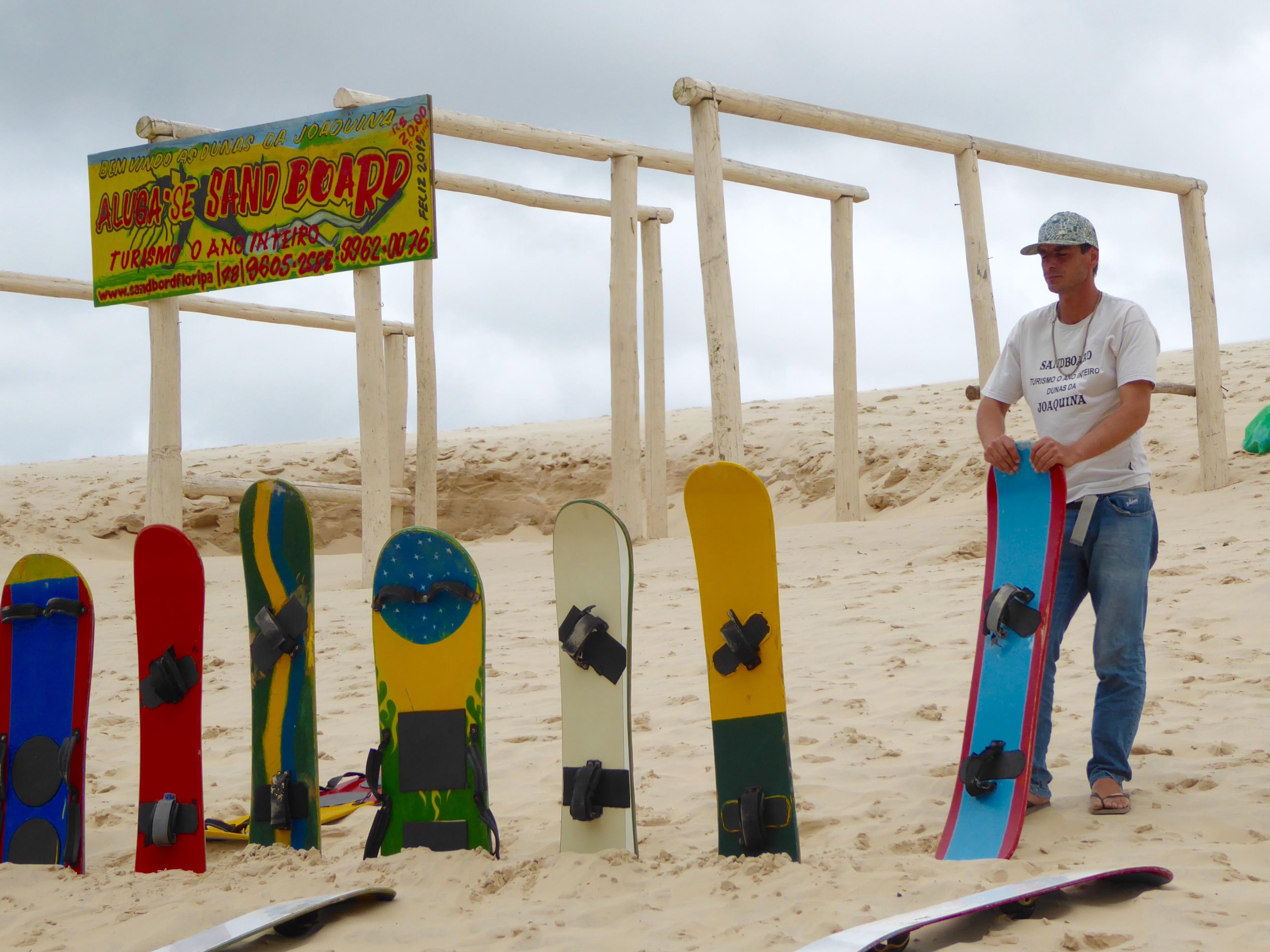 Sandboards-manden.