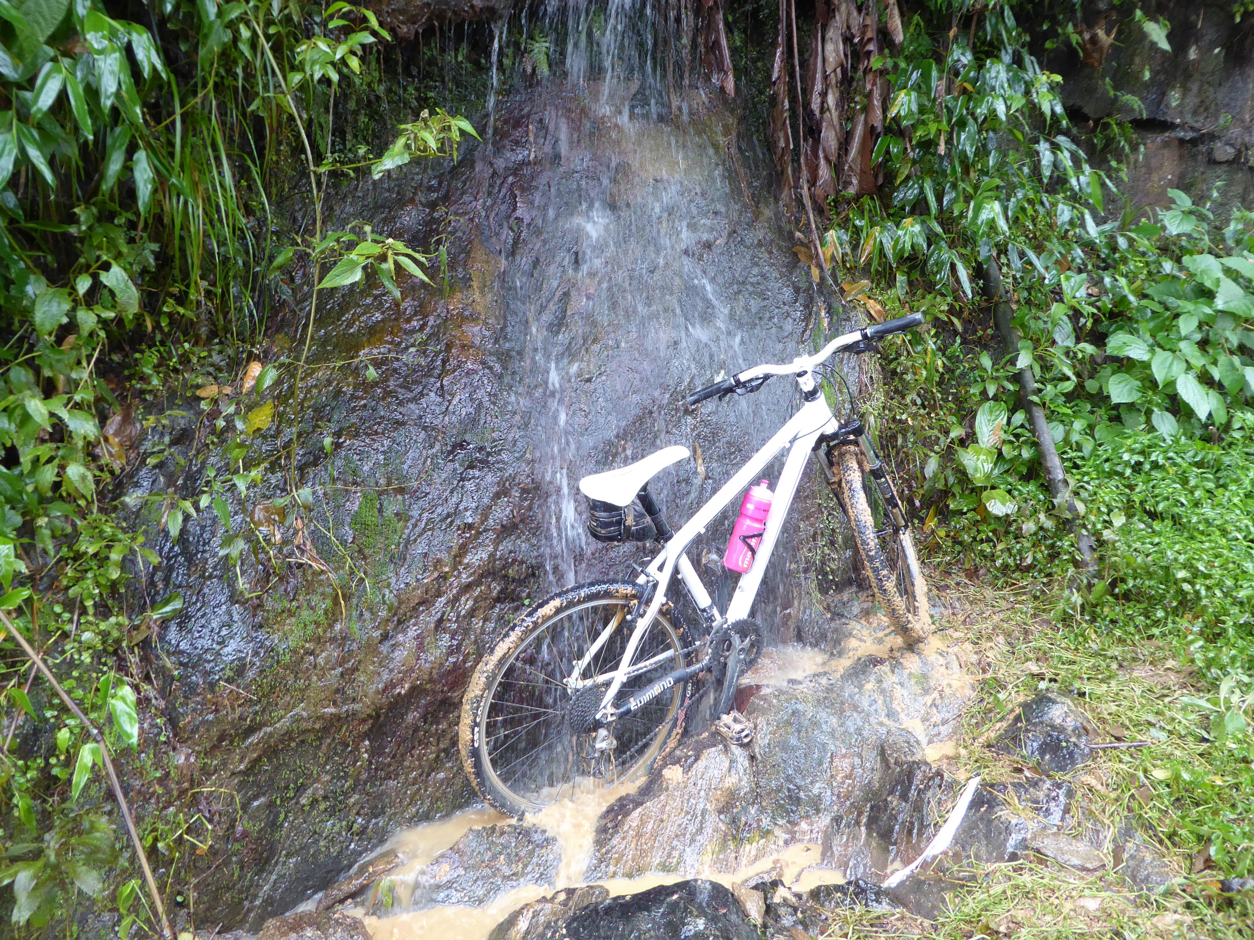 Cykelvask a la naturel.