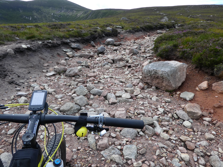 Stigningen - det andet stræk. Temmelig rocky.